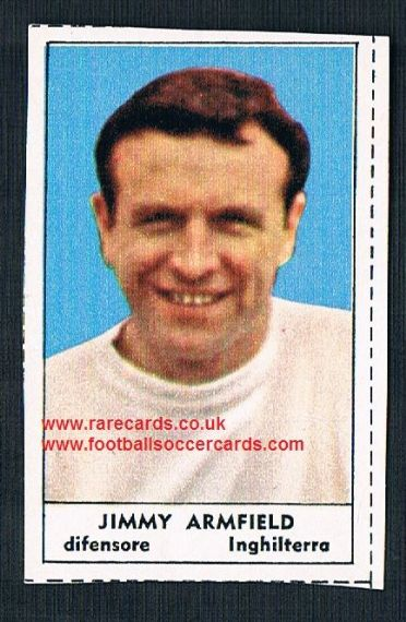 1966 Italian TIME MAG Jimmy Armfield Blackpool England packet issue